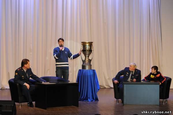 Встреча с кубком Континентальной хоккейной лиги